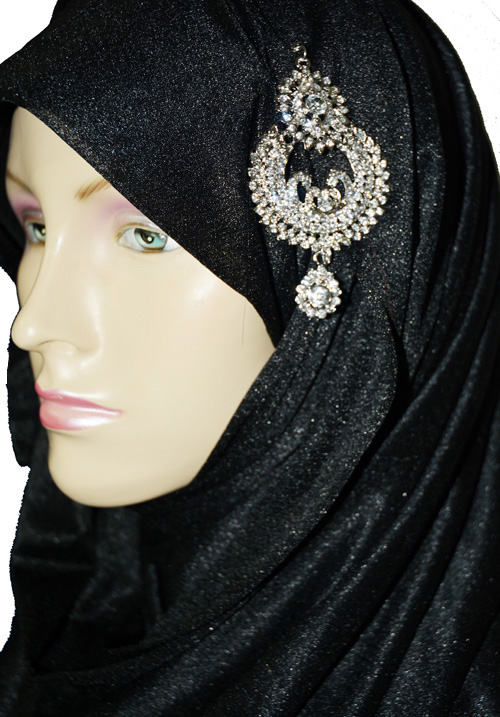 Silver Dangle Hijab Pin