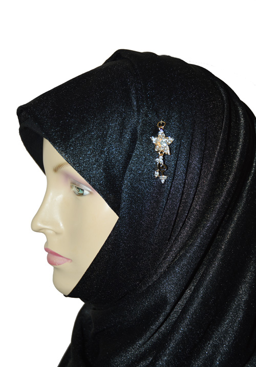 Cute Flower Dangle Hijab-Golden