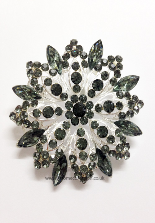 Statement Majestic Black studded Brooch