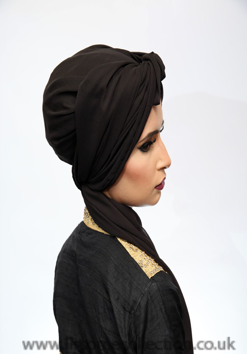 Georgette Hijab-Black
