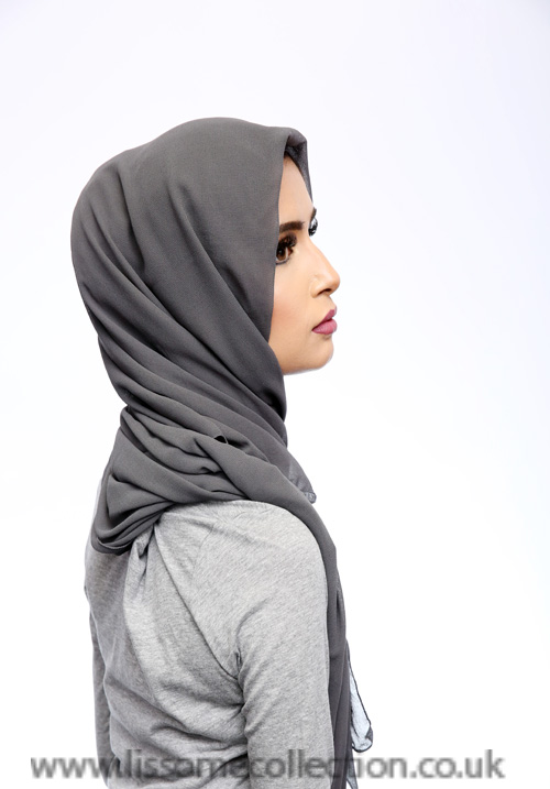 Georgette Grey Hijab