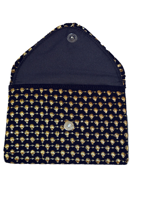 Black and Gold Purse A01