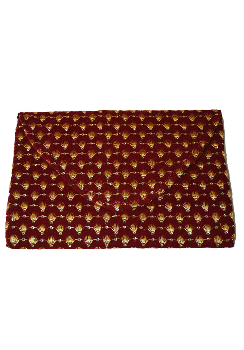 Maroon and Gold Purse