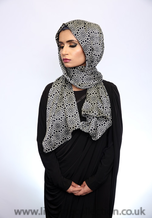 Satin Nautical Pattern Hijab
