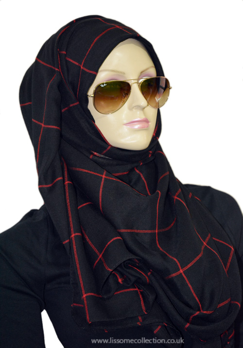 Chequered Black & Red