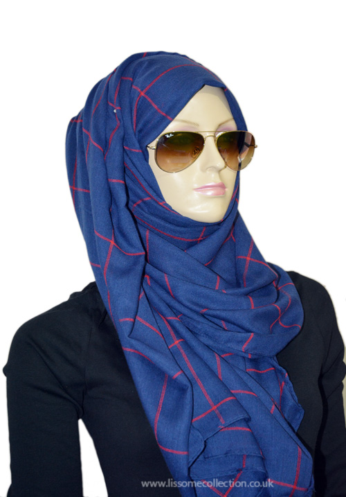 Chequered Blue & Red