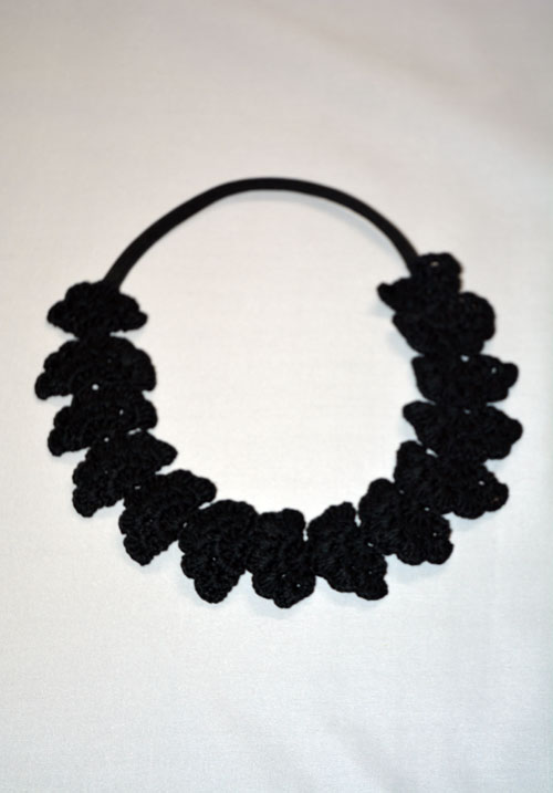 Cute Crochet Hijab Band-Black