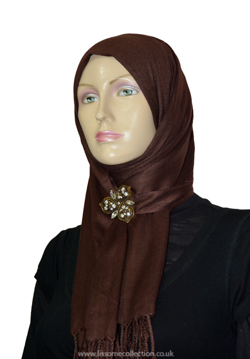 Chocolate Brown Pashmina